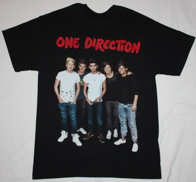 ONE DIRECTION BAND NEW BLACK T-SHIRT