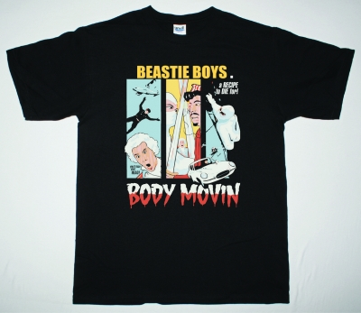 BEASTIE BOYS BODY MOVIN NEW BLACK T-SHIRT