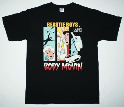 BEASTIE BOYS BODY MOVIN NEW BLACK T-SHIRT