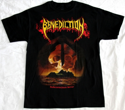 BENEDICTION SUBCONSCIOUS TERROR '90 NEW BLACK T-SHIRT