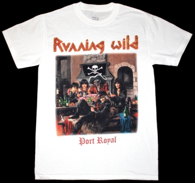 RUNNING WILD PORT ROYAL'88 NEW WHITE T-SHIRT