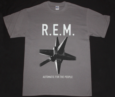 R.E.M. AUTOMATIC FOR THE PEOPLE 92 NEW GREY CHRACOAL T-SHIRT