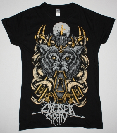 CHELSEA GRIN WOLFKEYS NEW BLACK LADY T-SHIRT