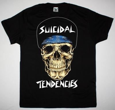 SUICIDAL TENDENCIES LOGO SKULL NEW BLACK T-SHIRT