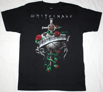 WHITESNAKE RESTLESS HEART '97 NEW BLACK T-SHIRT