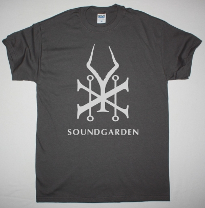 SOUNDGARDEN KING ANIMAL LOGO NEW GREY CHARCOAL T SHIRT
