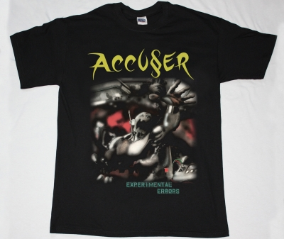 ACCUSER EXPERIMENTAL ERRORS 87 NEW BLACK T-SHIRT