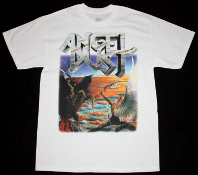 ANGEL DUST INTO THE DARK PAST'86 NEW WHITE T-SHIRT