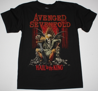 AVENGED SEVENFOLD HAIL TO THE KING 2013 NEW BLACK T-SHIRT