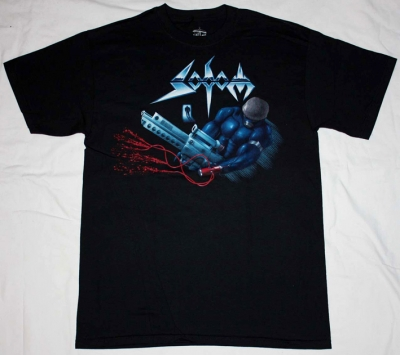 SODOM TAPPING THE VEIN TOUR'92  NEW BLACK T-SHIRT