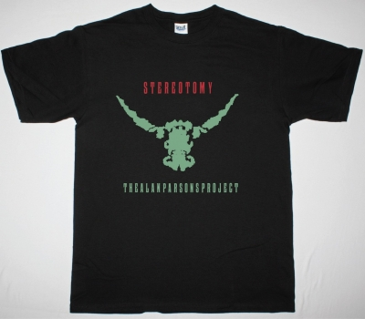 THE ALAN PARSONS PROJECT STEREOTOMY NEW BLACK T-SHIRT
