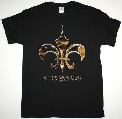 STRATOVARIUS LOGO NEW BLACK T-SHIRT