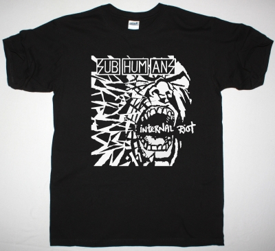 SUBHUMANS INTERNAL RIOT NEW BLACK T SHIRT
