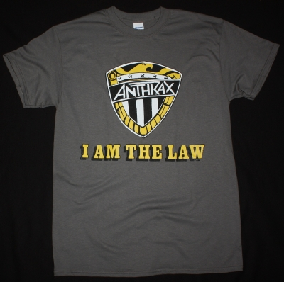 ANTHRAX I AM THE LAW NEW GREY T SHIRT