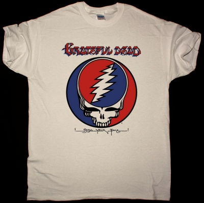 GRATEFUL DEAD STEAL YOUR FACE COVER NEW NATURAL T SHIRT