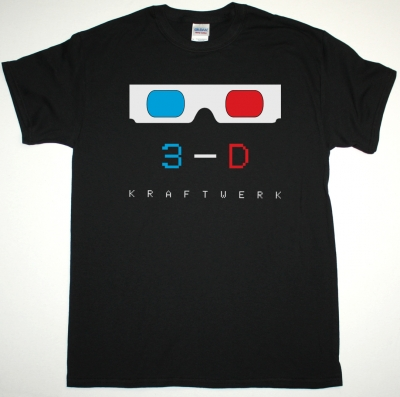 KRAFTWERK 3-D NEW BLACK T-SHIRT