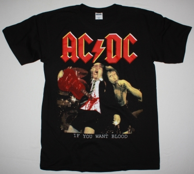 AC DC IF YOU WANT BLOOD YOU'VE GOT IT AC/DC NEW BLACK T-SHIRT