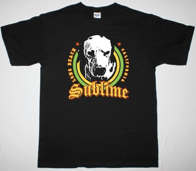 SUBLIME DOG NEW BLACK T-SHIRT