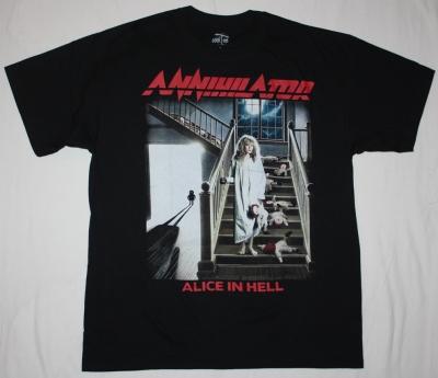 ANNIHILATOR ALICE IN HELL'89 NEW BLACK T-SHIRT