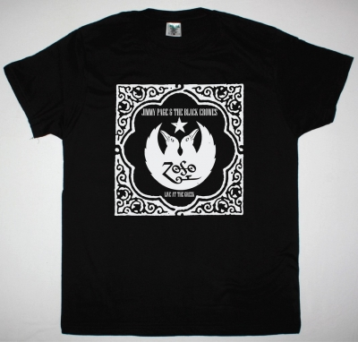 JIMMY PAGE AND THE BLACK CROWES NEW BLACK T-SHIRT