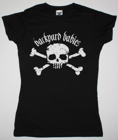 BACKYARD BABIES GIRLIE OLD SKULL NEW LADY BLACK T-SHIRT