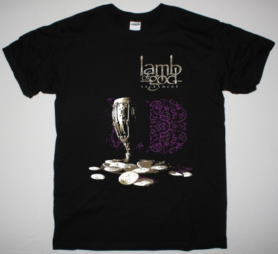LAMB OF GOD SACRAMENT NEW BLACK T-SHIRT