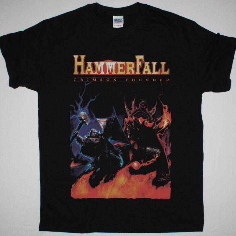 HAMMERFALL CRIMSON THUNDER NEW BLACK T-SHIRT