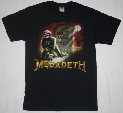 MEGADETH MARY JANE '88 NEW BLACK T-SHIRT