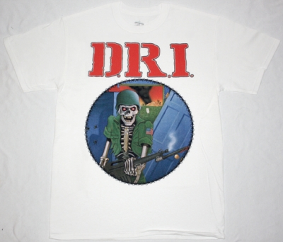 D.R.I. DIRTY ROTTEN'83 NEW WHITE T-SHIRT