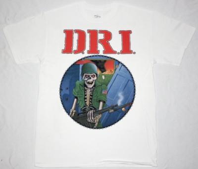 D.R.I. DIRTY ROTTEN'83 NEW WHITE T-SHIRT