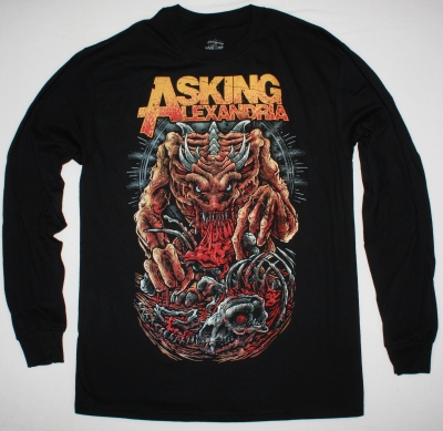 ASKING ALEXANDRIA MONSTER NEW BLACK LONG SLEEVE T-SHIRT