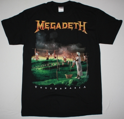 MEGADETH YOUTHANASIA NEW BLACK T SHIRT