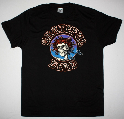 GRATEFUL DEAD LOGO SKULL NEW BLACK T SHIRT