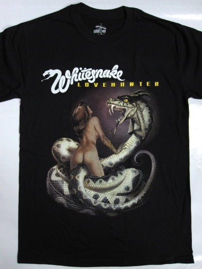 WHITESNAKE LOVEHUNTER'79  NEW BLACK T-SHIRT