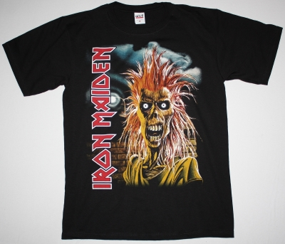 IRON MAIDEN IRON MAIDEN 1980 NEW BLACK T-SHIRT