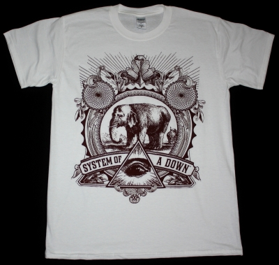 SYSTEM OF A DOWN ELEPHANT NEW WHITE T-SHIRT