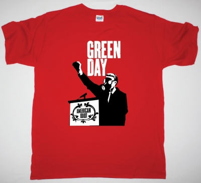 GREEN DAY AMERICAN IDIOT NEW RED T-SHIRT