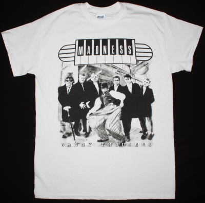 MADNESS BAGGY TROUSERS VINTAGE WHITE T-SHIRT