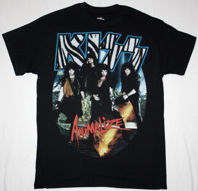 KISS ANIMALIZE '84 NEW BLACK T-SHIRT