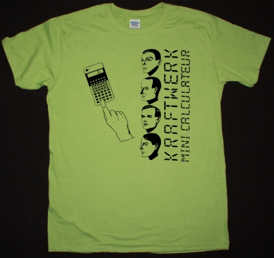 KRAFTWERK MINI CALCULATEUR NEW GREEN KIWI COLOR T-SHIRT