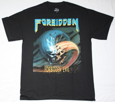 FORBIDDEN FORBIDDEN EVIL'88 NEW BLACK T-SHIRT