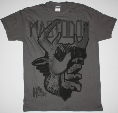 MASTODON THE HUNTER HEAD JUMBO PRINT NEW GREY T-SHIRT