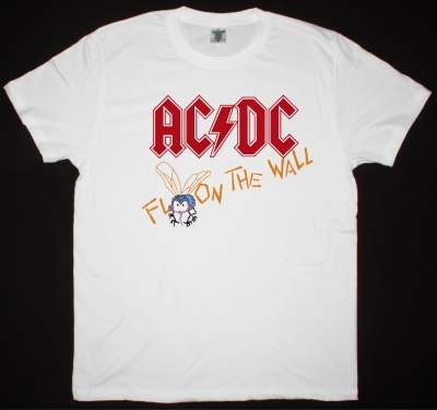 AC DC FLY ON THE WALL 1985 AC/DC NEW WHITE T-SHIRT