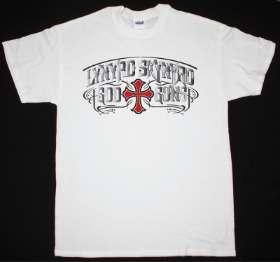 LYNYRD SKYNYRD GOD N GUNS NEW WHITE T-SHIRT
