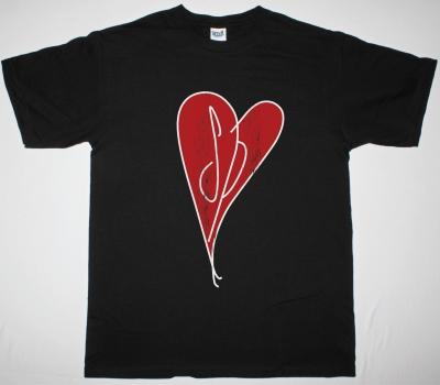 SMASHING PUMPKINS HEART DISTRESSED LOGO NEW BLACK T-SHIRT