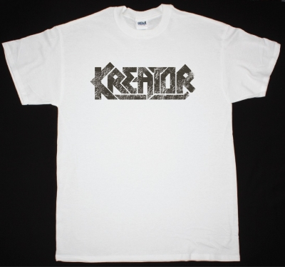 KREATOR LOGO NEW WHITE T-SHIRT