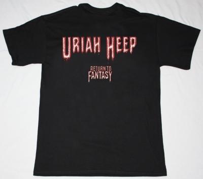 URIAH HEEP RETURN TO FANTASY'75 NEW BLACK T-SHIRT
