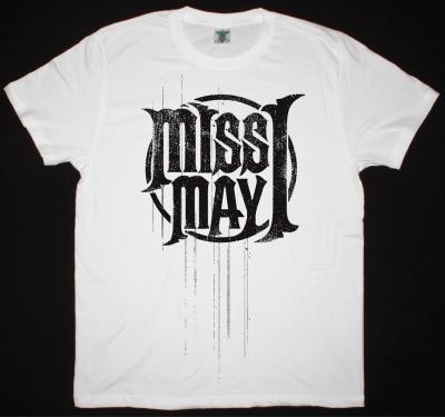 MISS MAY I LOGO NEW WHITE T-SHIRT