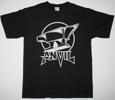 ANVIL ON ANVIL LOGO NEW BLACK T SHIRT
