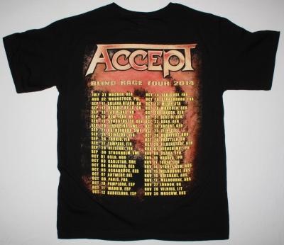 ACCEPT BLIND RAGE WORLD TOUR DATES 2014 NEW BLACK T-SHIRT